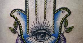 Tatuaje mano con ojo