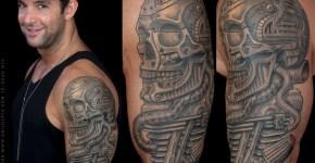 Tatuaje calavera metal