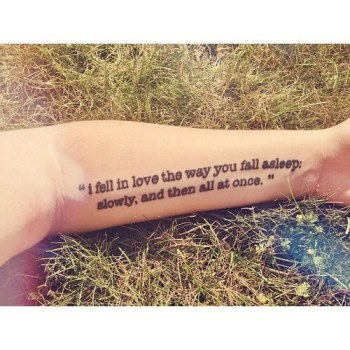 Tattoos of phrases the fault in our stars