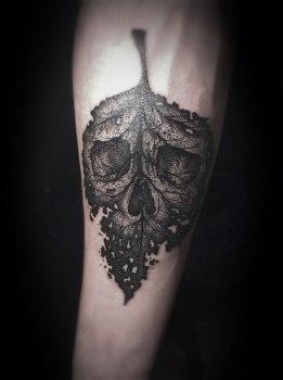 Tatuaje De Hoja Otoñal Tatuajesxd