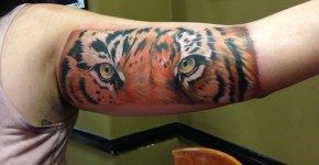 Tatuaje ojos tigre