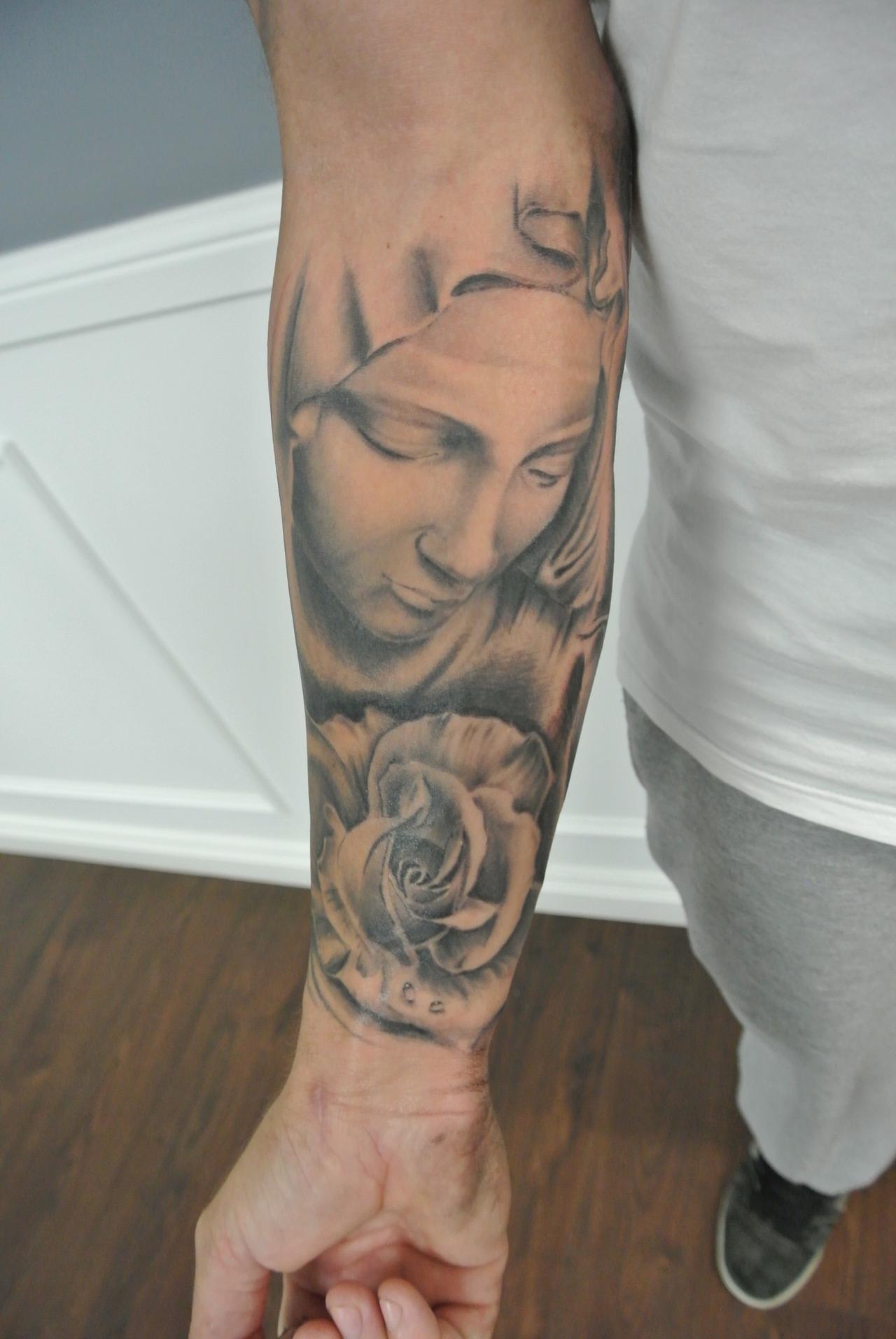 Tattoo Virgen Maria A K Binfo