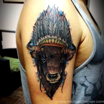 Tatuaje bisonte