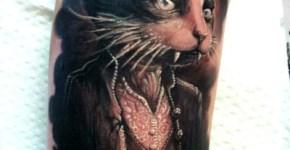Tatuaje gato vampiro