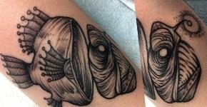 Tatuaje pez pescador