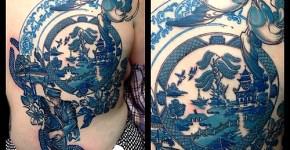 Tatuaje plato porcelana