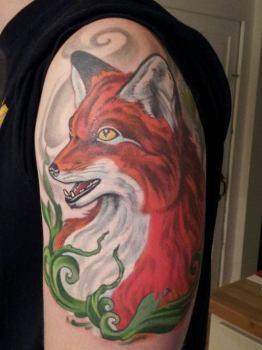 Tatuaje zorro sonriente