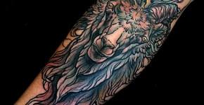 tatuaje macho cabrío