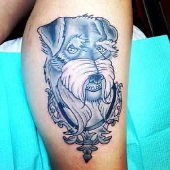 Tatuaje Terrier gris