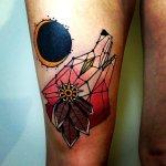 Tatuaje lobo esquemático