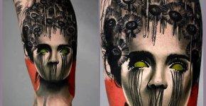 Tatuaje mujer tenebrosa