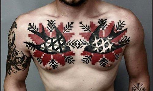 Tatuaje pájaros pecho