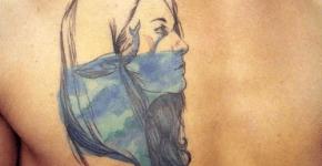 Tatuaje retrato marino