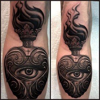 Tatuaje De Sagrado Corazón Tatuajesxd