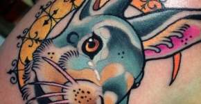 Tatuaje cabeza de conejo