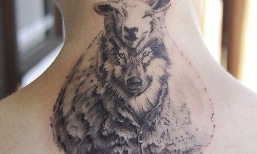 Tatuaje lobo disfrazado