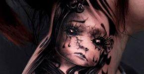 Tatuaje muñeca llorona