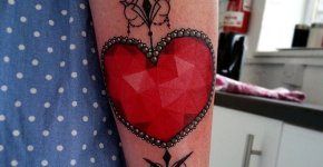 Tatuaje joya corazón