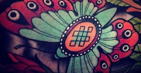 Tatuaje mariposa verde