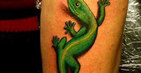 Tatuaje lagarto verde
