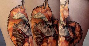 Tatuaje de conejo carnivoro