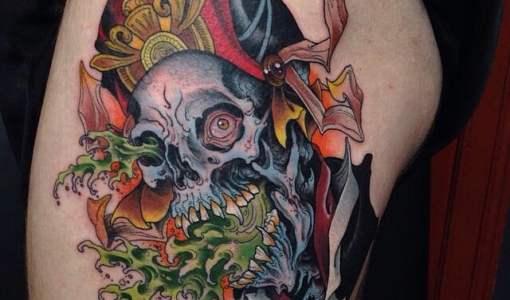 Tatuaje calavera pirata