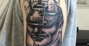 Tatuaje de hombre cementerio