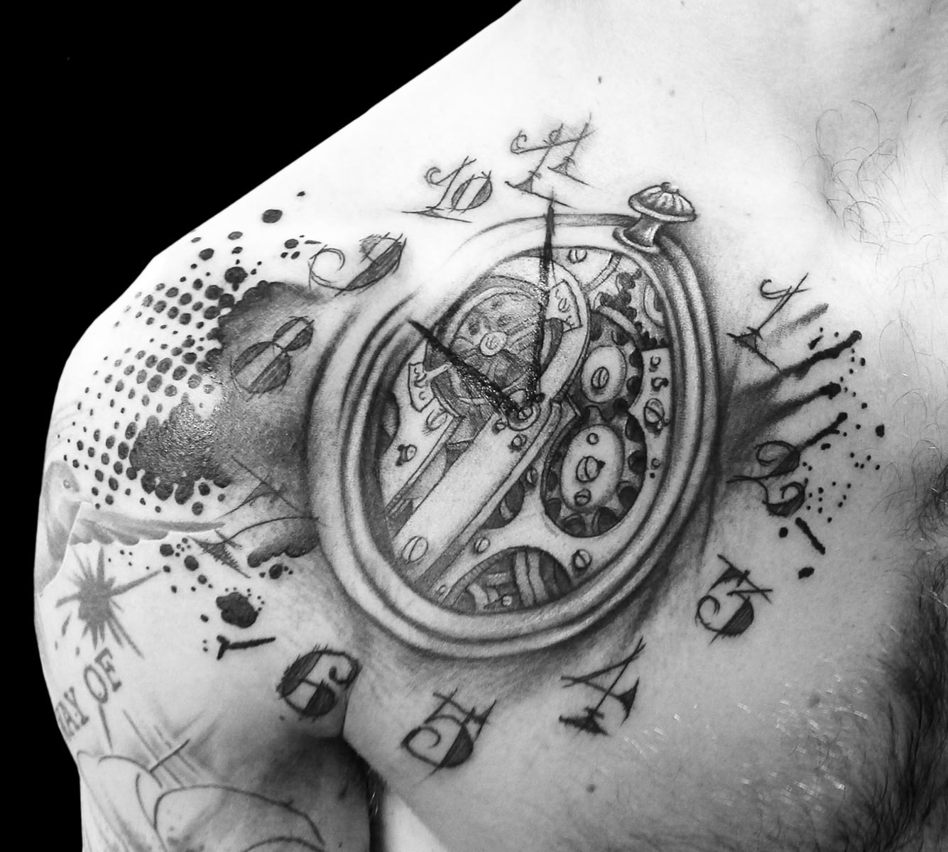 Tatuaje De Reloj En El Pecho Tatuajesxd