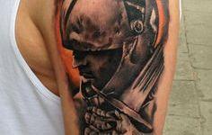 Tatuaje caballero medieval