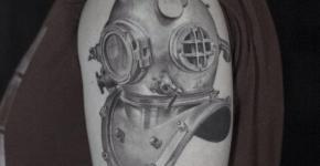 Tatuaje casco de buzo