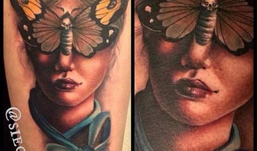 Tatuaje mujer mariposa