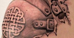 Tatuaje armadura en el hombro