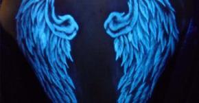 Tatuaje Flourescente alas