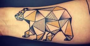 Tatuaje oso polar en el brazo