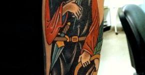 Tatuaje zorro monje