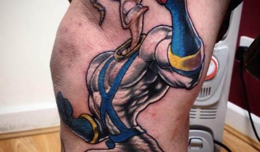 Tatuaje Earthworm Jim
