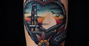 Tatuaje puesta de sol