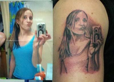 Tatuaje selfie
