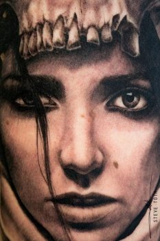 Tatuaje chica hiperealista