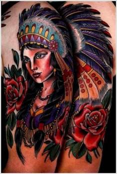 tatuaje mujer india
