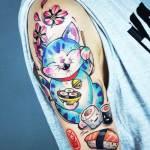 tatuaje de maneki neko kati beri