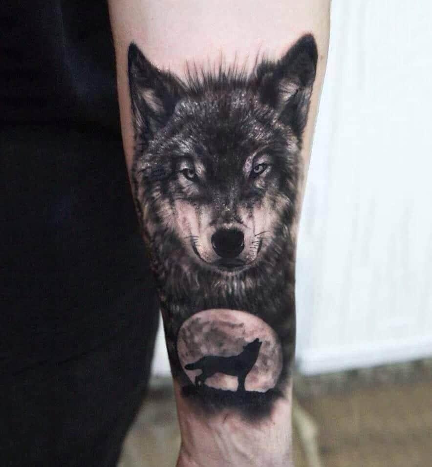 Tatuajes De Lobos En El Brazo Para Hombres Tatuajes Pequeños