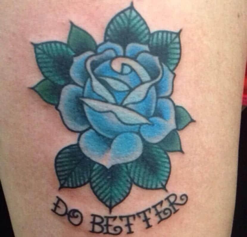 Tatuajes De Rosas Azules Y Su Significado