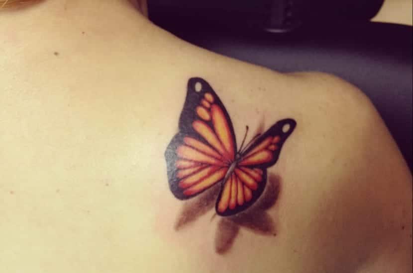 Tatuaje Mariposa 3d Sinónimo De Belleza Y Realidad