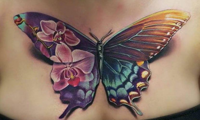 Tatuajes De Mariposas En El Pecho Recopilación Y Significado