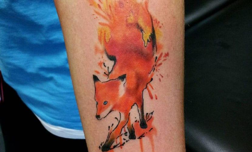 Tatuajes De Zorros En Acuarela Recopilación De Diseños