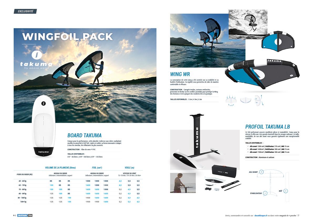 Maquette catalogue Decathlon Tribord - sports nautiques - Wing