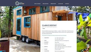 Tatziki -Webdesign & dev du site de l'Atelier DesTiny, conception de Tiny Houses sur-mesure