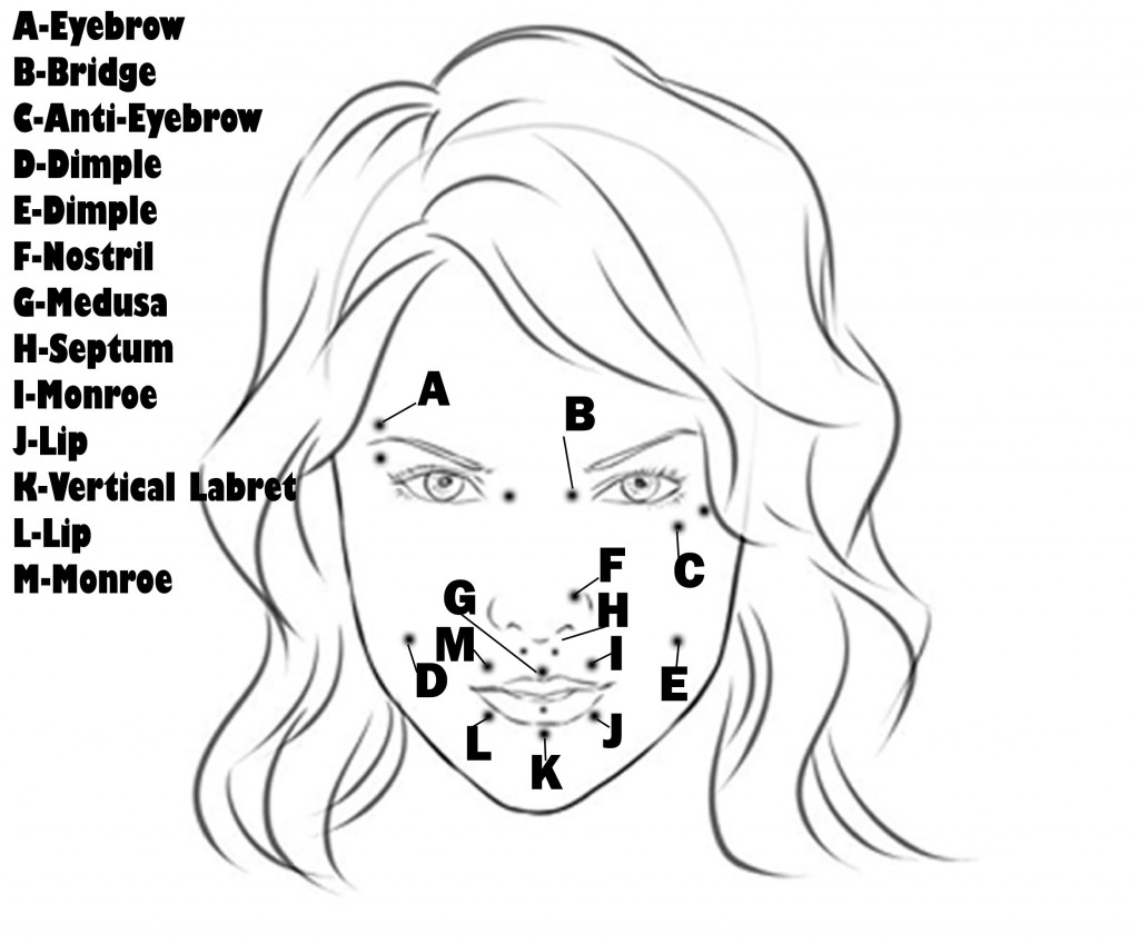 face piercing diagram and names wiring diagrams for warn winch solenoids taunton tattoo co piercings