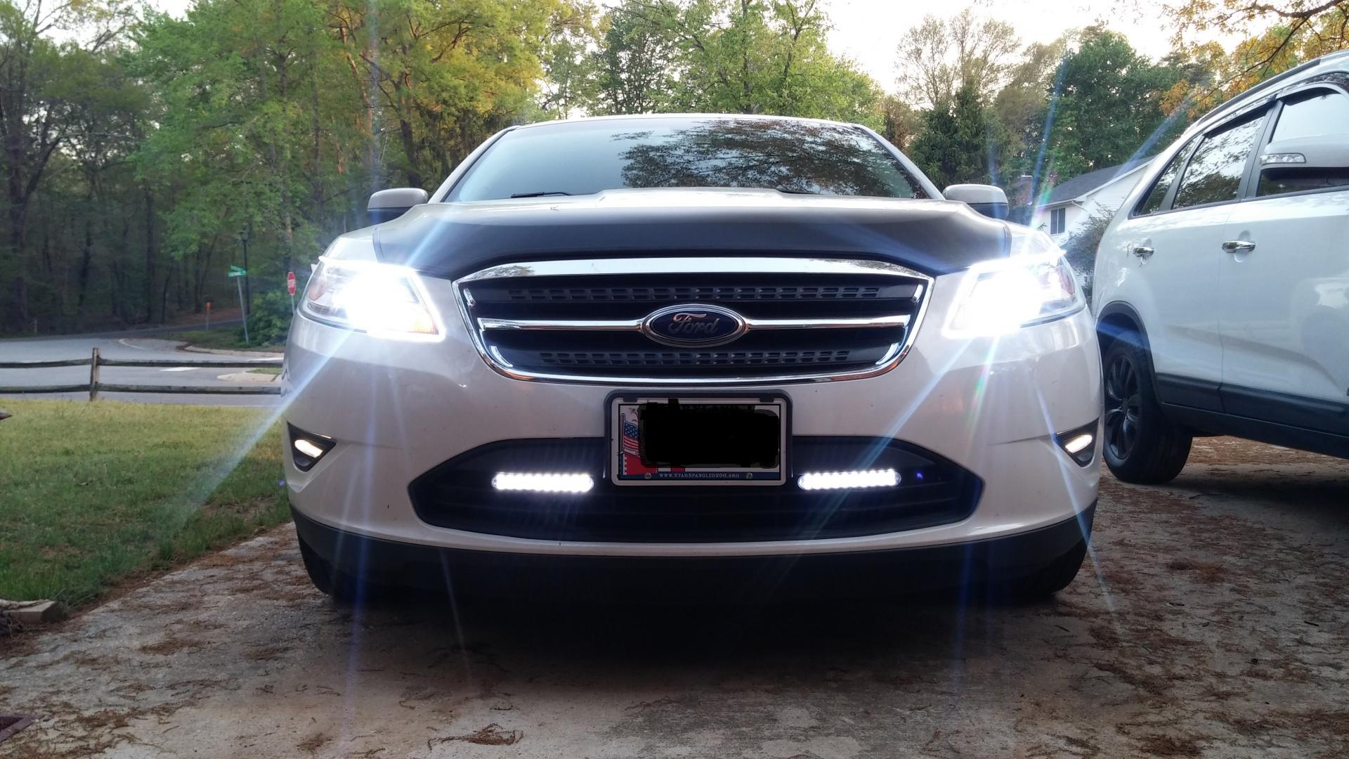 hight resolution of 6k 55w hid headlights with led strips and led drls taurus car club of america